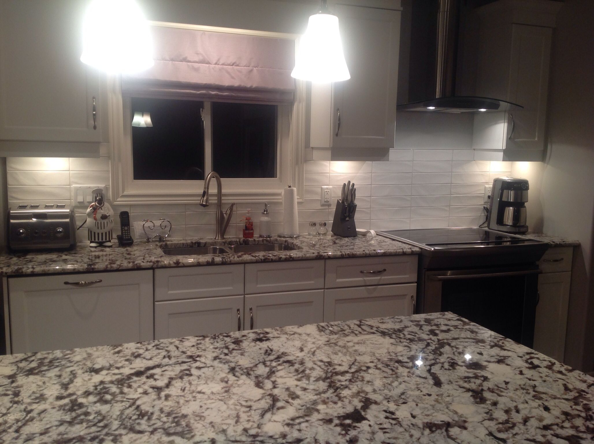 White Spring Granite Kitchen Cold Spring Granite And 3x12 New Yorker Matte White Tile In A