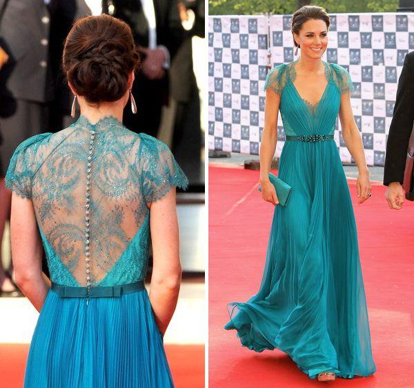Princess Kate in beautiful Jenny Packham dress.  3a39a99e050f