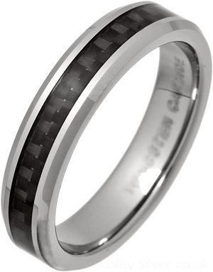 5mm Tungsten And Black Carbon Fibre Ring Tungsten Carbide Wedding Rings Carbon Fiber Rings Black Tungsten Rings