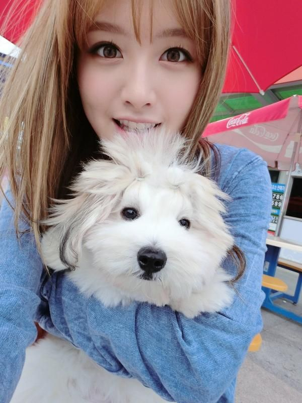 Asian puppy beauty models