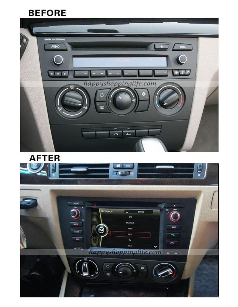 DVD radio special design for manual air-conditioner BMW New 3 Series E90/  E91
