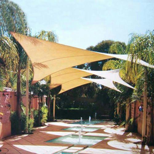 Quictent 185G 13x10u0027Rectangle Sun Sail Shade Canopy Top Cover Patio FreeBag  Sand