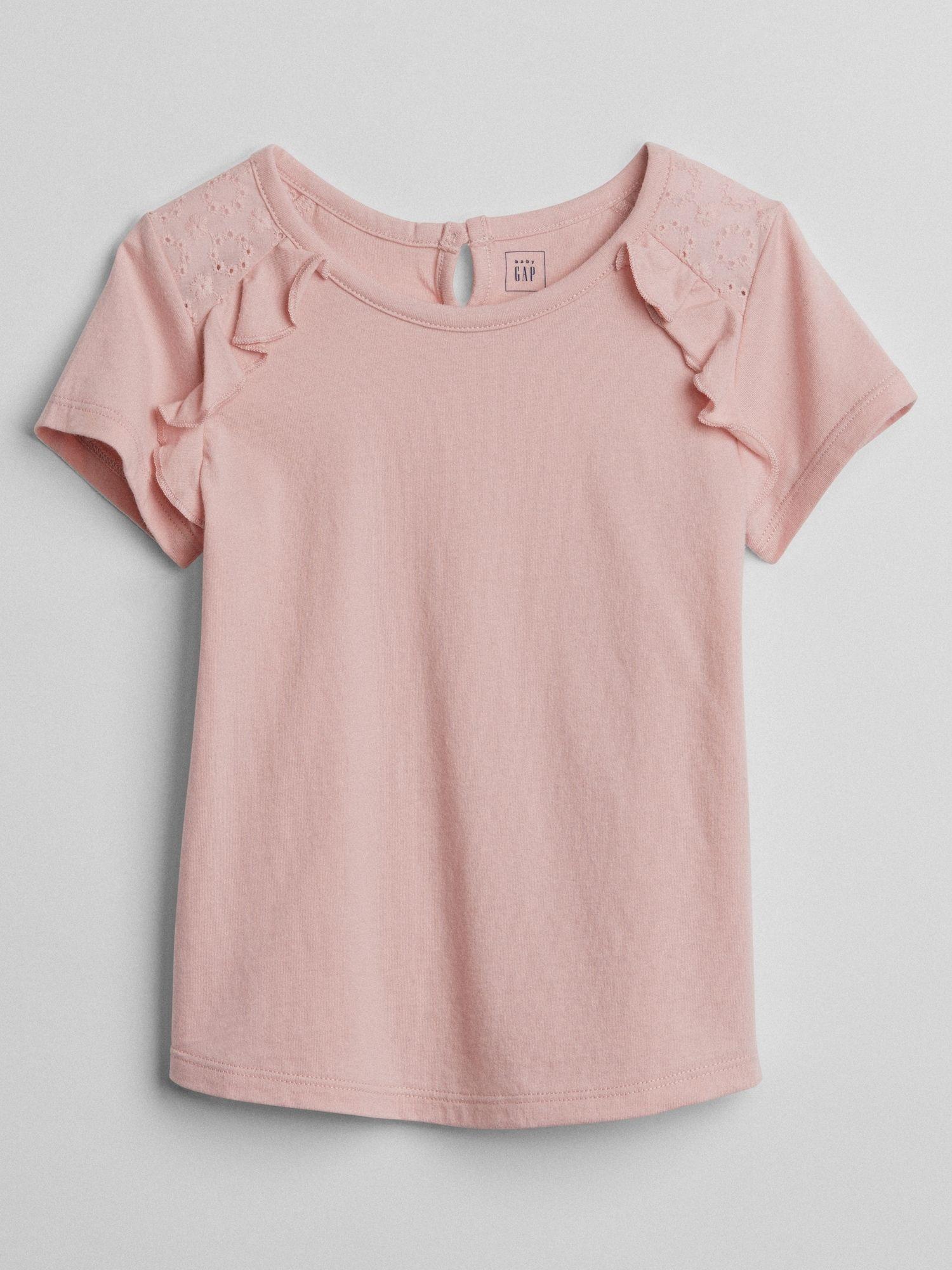 5e9bed959 Embroidery Flutter T-Shirt | Gap | Kids wear | Shirts, Toddler girl ...
