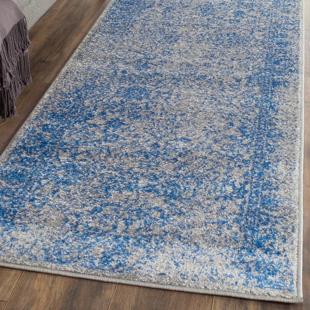 Safavieh Farrah Gray Blue 3 Ft X 12 Ft Runner Rug Adrw109a 212 Area Rugs Rugs Traditional Area Rugs