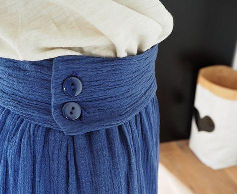 Ma jupe bohème en tissu lange (tuto)