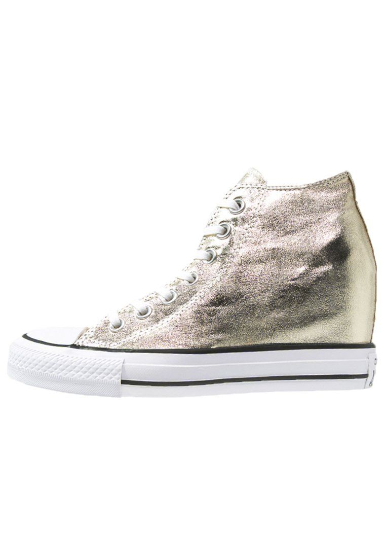 734157b334b iconische Converse CHUCK TAYLOR ALL STAR MID LUX METALLIC Sneakers hoog  light gold/white/