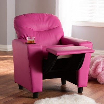 Magnificent Evonka Magenta Faux Leather Kids Recliner Chair Pink Andrewgaddart Wooden Chair Designs For Living Room Andrewgaddartcom