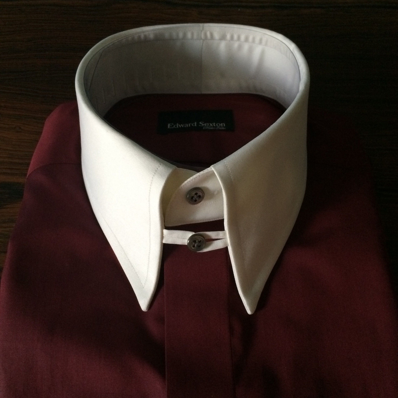 STYLE & ERROR » Blog Archive » Sexton burgundy: shirt white tab ...
