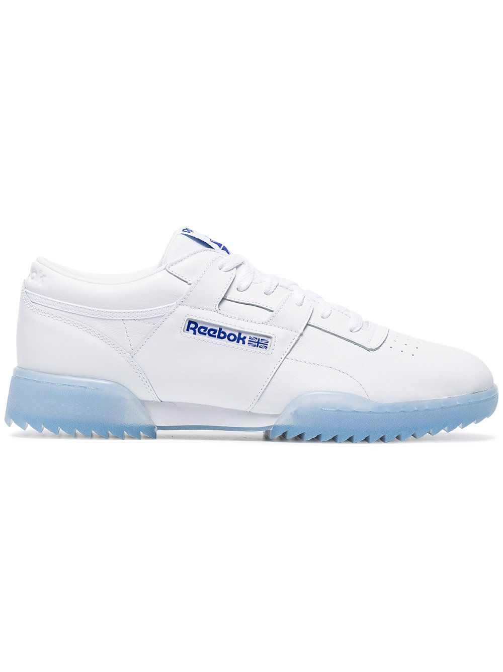 f120fc1d6967c REEBOK WHITE WORKOUT CLEAN RIPPLE ICE SNEAKERS.  reebok  shoes ...