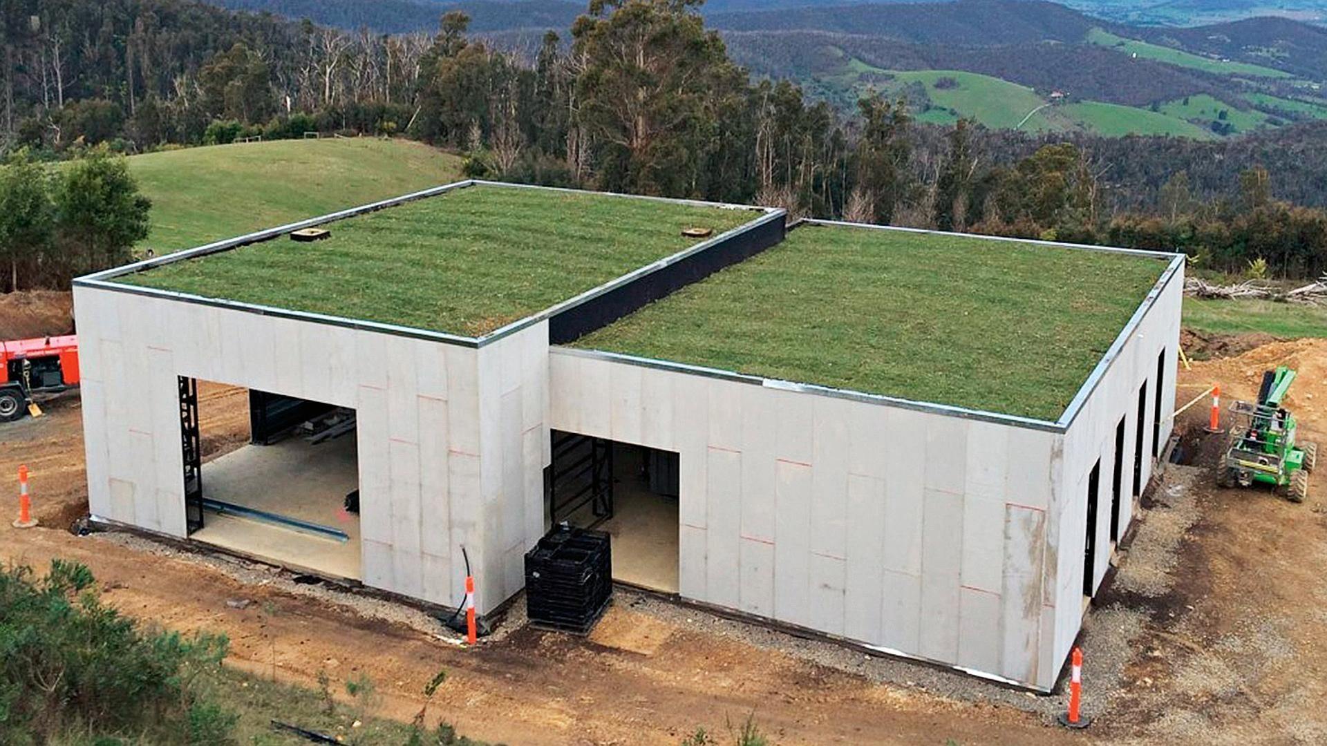 24 Ideas Container House Design Ideas Green Roofs For Green Roof Bush Fire Proof House Joost Bakker House Green Roof House Container House Green Roof