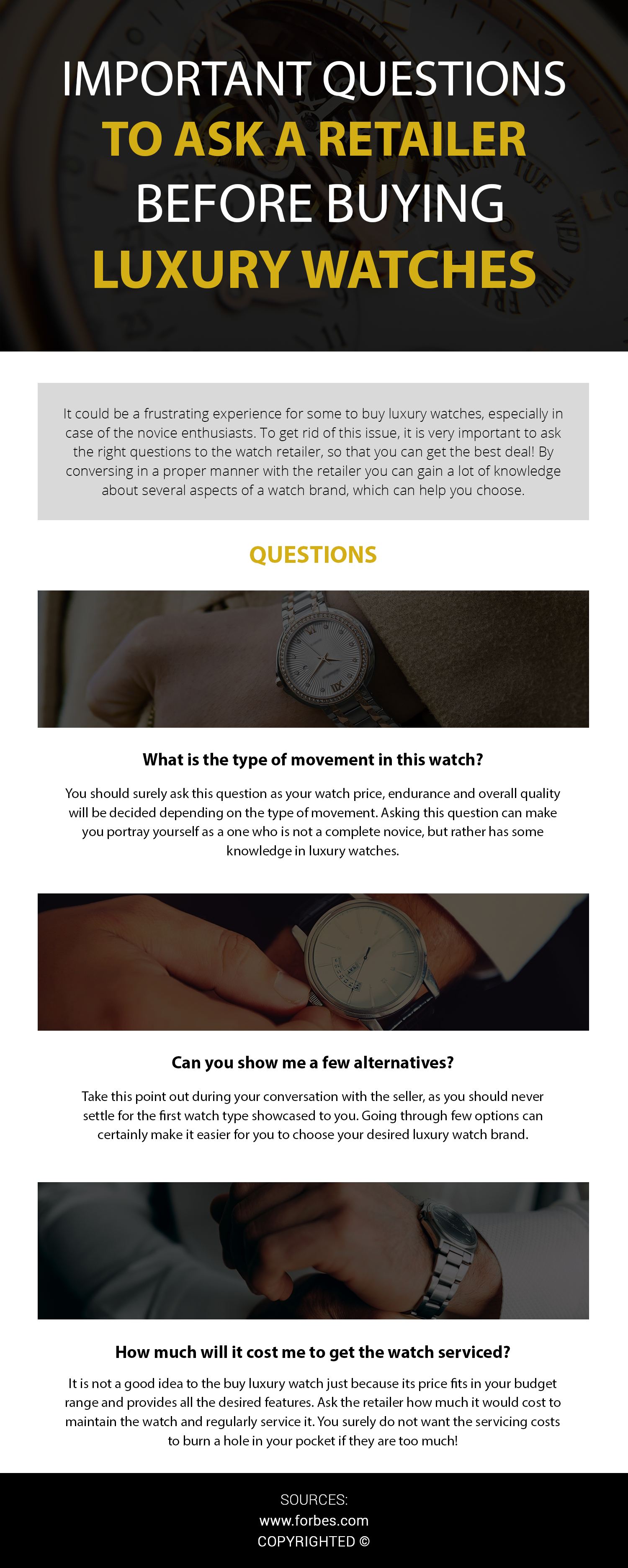 Factors to Consider While Buying a Luxury Watch: Right from checking