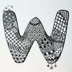 All sizes | Letter W Zendoodle (© Z.Ford) | Flickr - Photo Sharing!