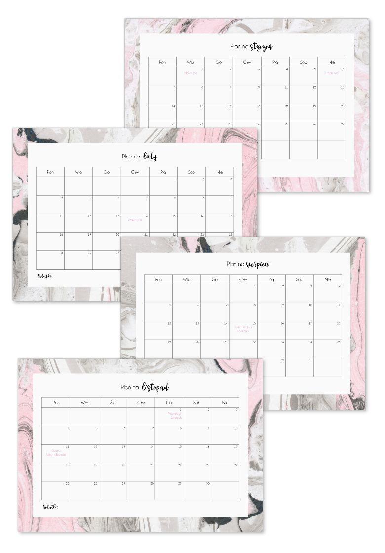Kalendarz 2019 Do Druku Planer 2019 Do Druku P R I N T A B L E