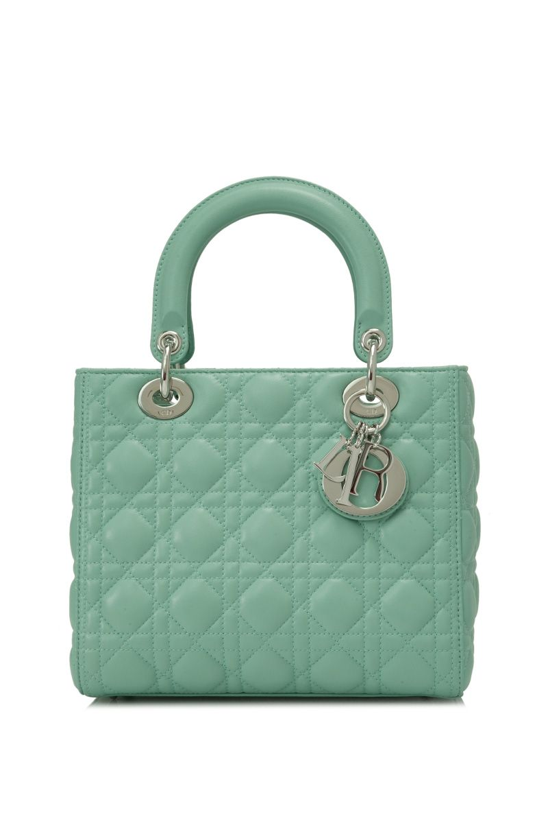 Christian Dior Medium Lady Dior Sweet Mint (Designer Colour) - DIOR ... 720b4c80bd829