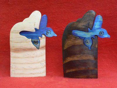 Artesanato Paraty - Artesanato em madeira: Borboleta 001 13x9cm R$ 14,00