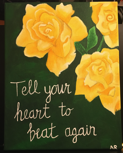 #canvasart #painting #rosepainting #tellyourhearttobeatagain #lifewiththeroselands #selfcare