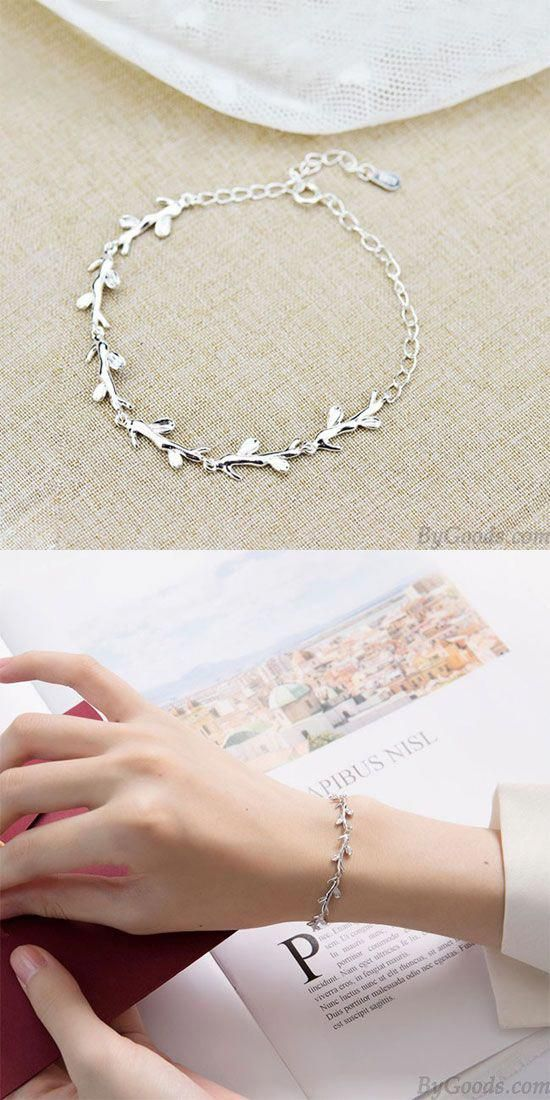 Photo of Cute Forest Style Leaves Lover Gift Accessories Women Bracel…