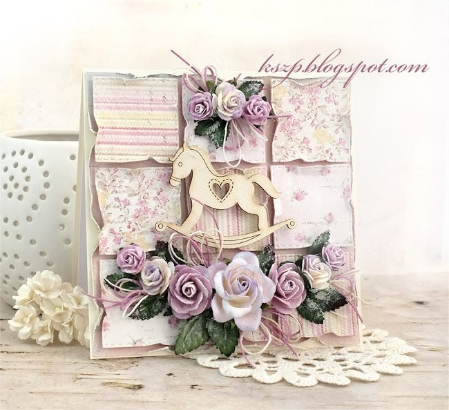 Wild Orchid Crafts: Card with rocking horse