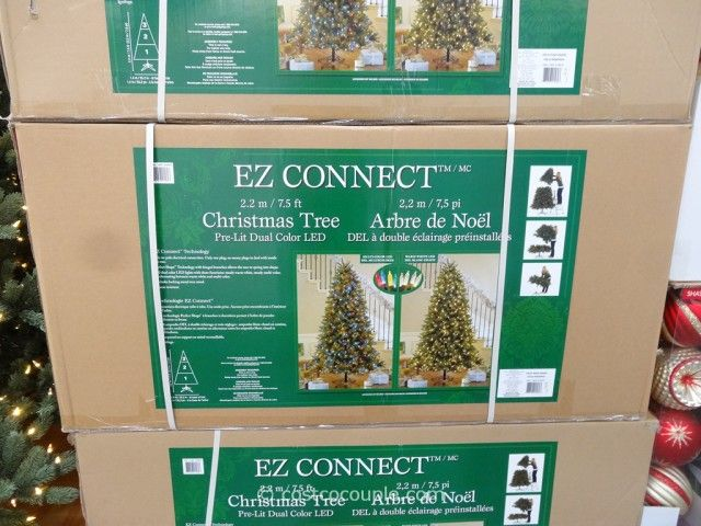 ez connect 75ft prelit led christmas tree costco