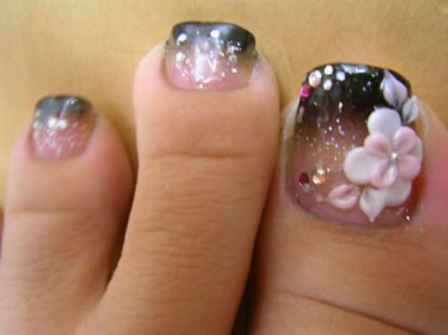 Cool Nail Art Design Toes Nail Art Made Like Flowers Nails