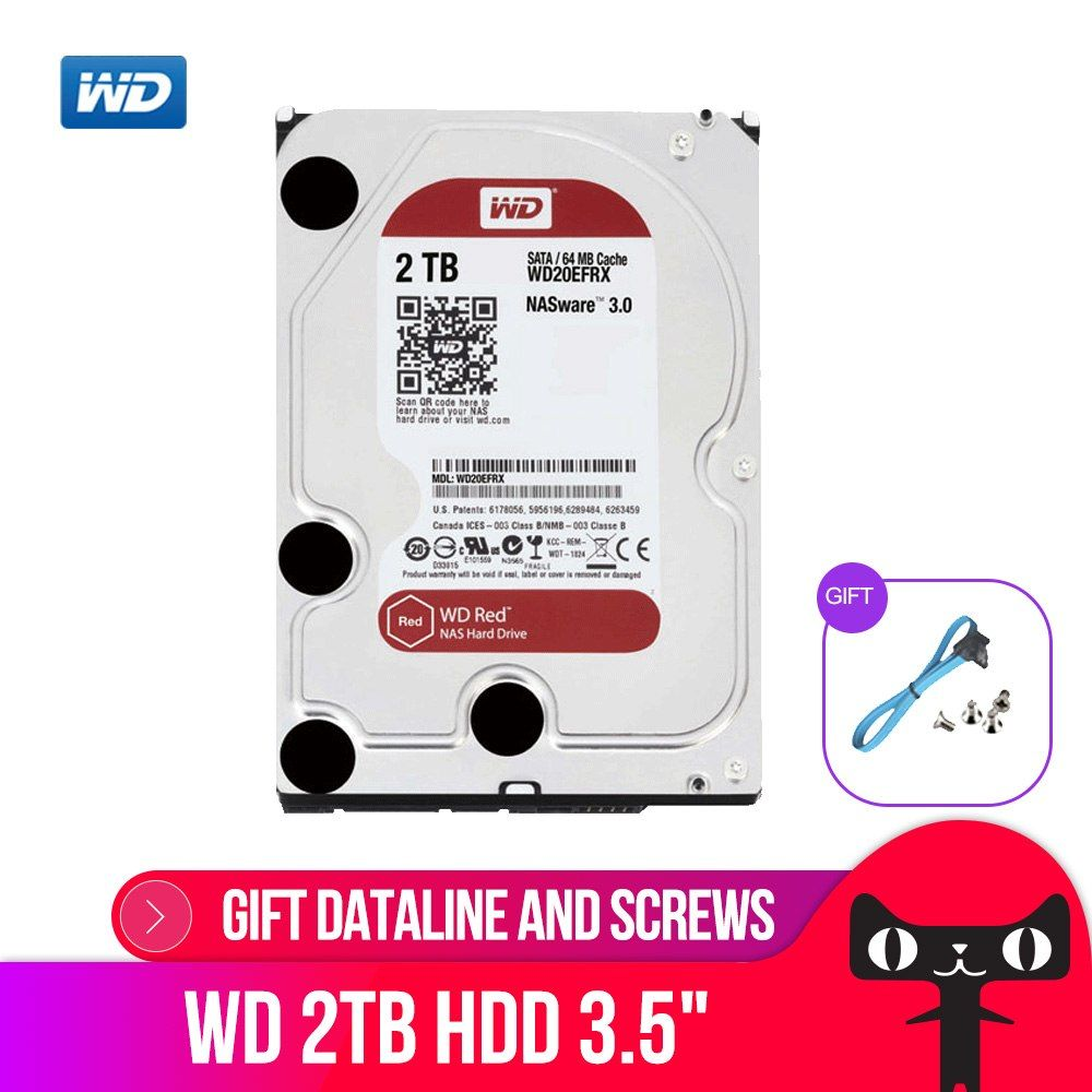 Western Digital Wd Red Nas Hard Disk Drive 2tb 3tb 4tb 6tb 8tb 10tb 5400 Rpm Class Sata 6 Gb S 64mb Cache 3 5 Inch Decktop Nas Hard Disk Hdd Networking