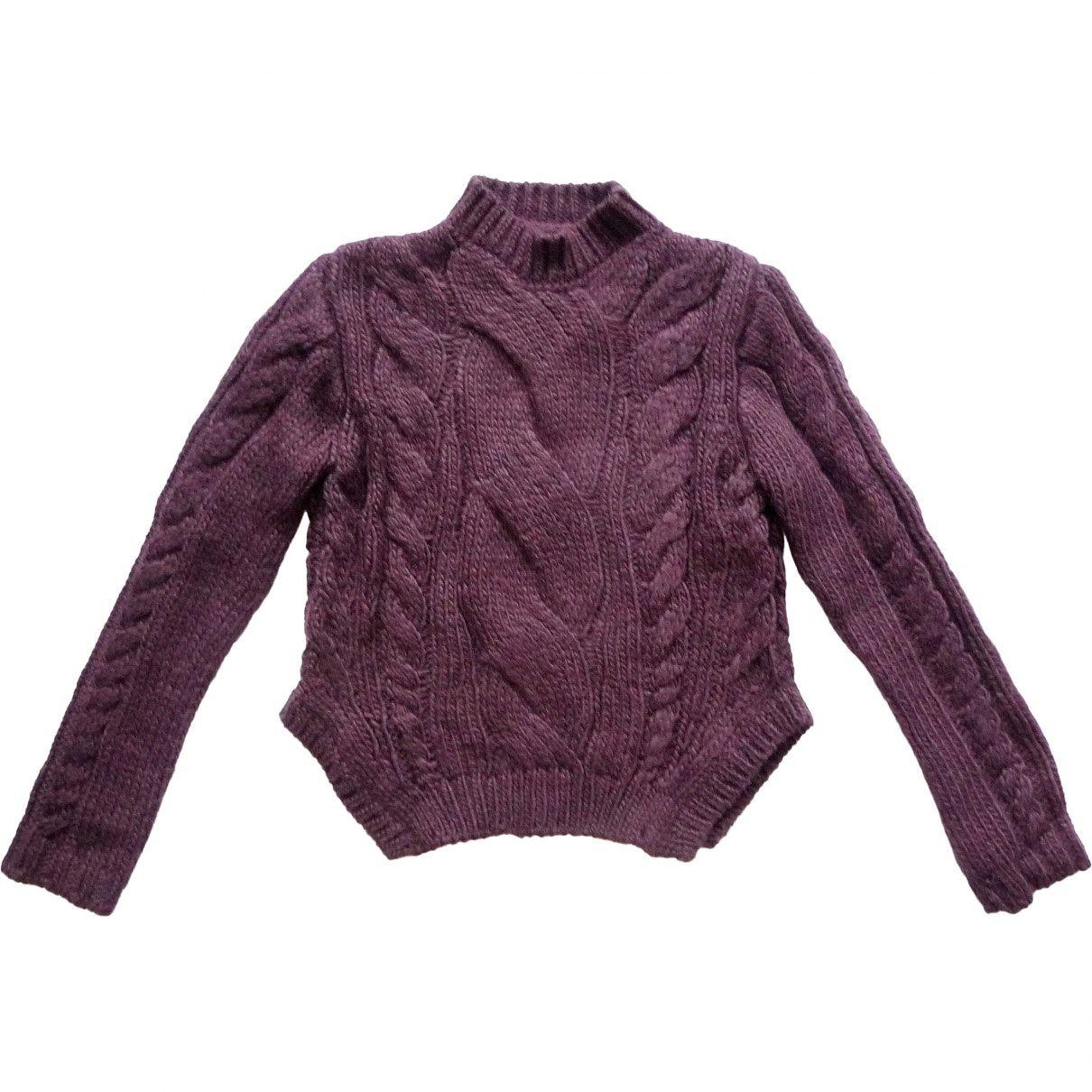 Pullover en laine in 2019 Fashion, Aubergine colour