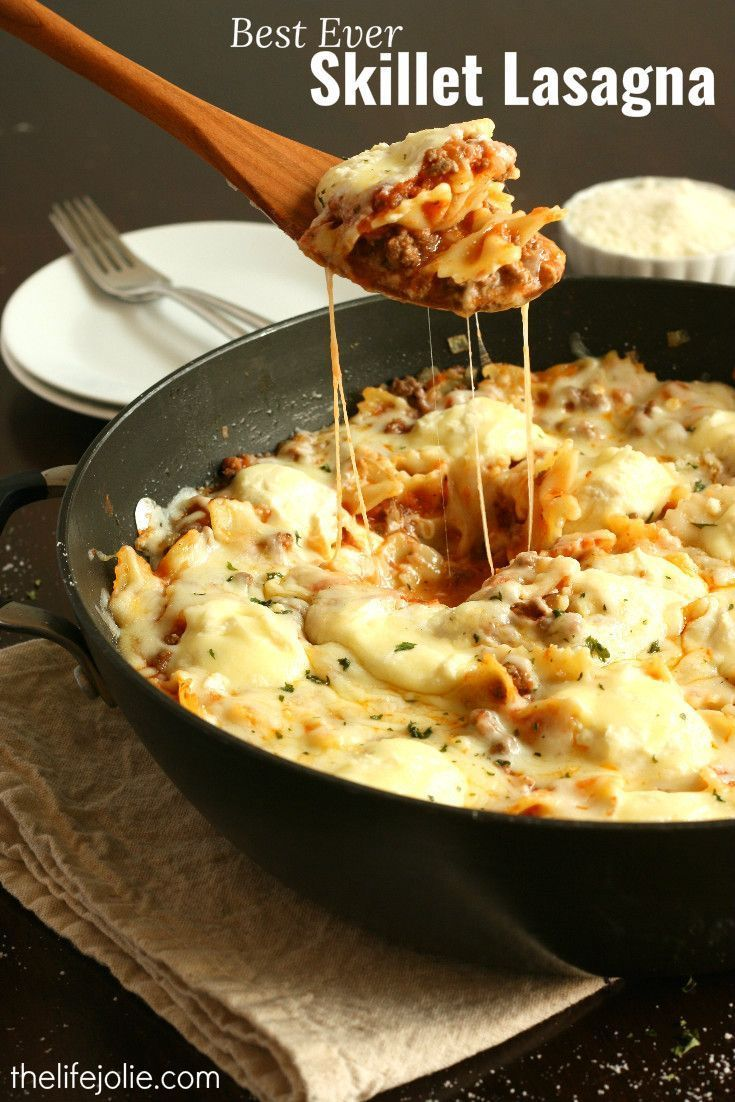 This Best Ever Skillet Lasagna truly is the amazing! It's such a quick and easy recipe and the flavors cannot be beat (especially because it comes together in around 30 minutes!). This one is definitely a keeper!