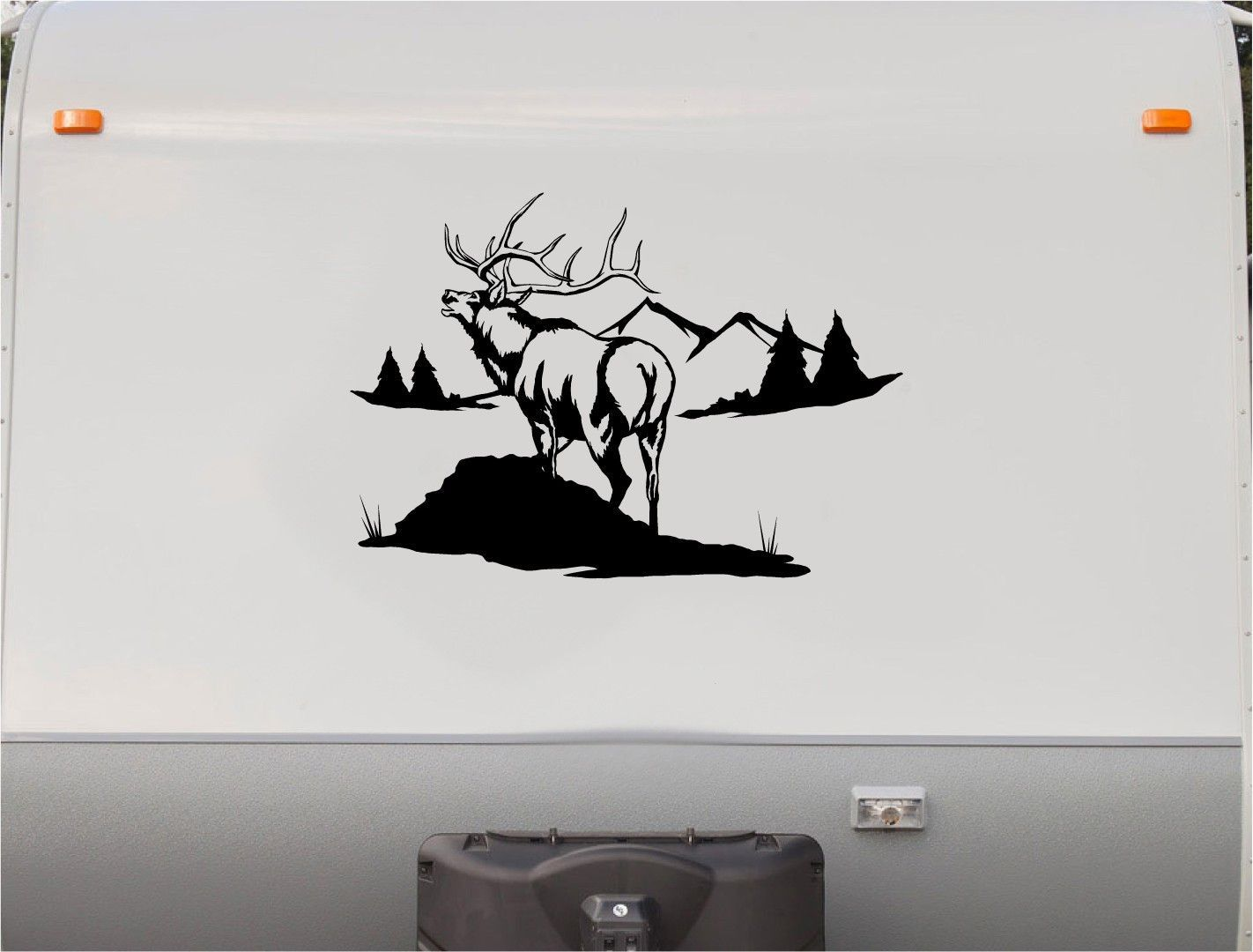 Elk Mountains RV Camper Th Wheel Motorhome Vinyl Decal Sticker - Custom rv vinyl decals
