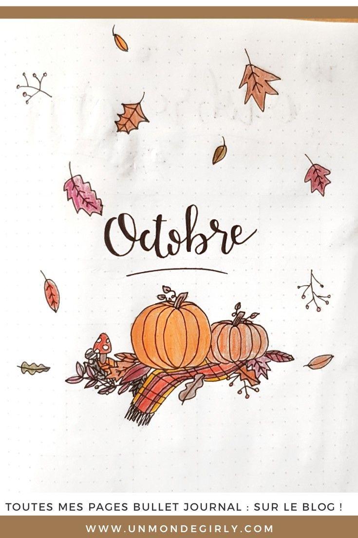 Bullet journal #9 Octobre et ses jolies feuilles #bulletjournaloctobre