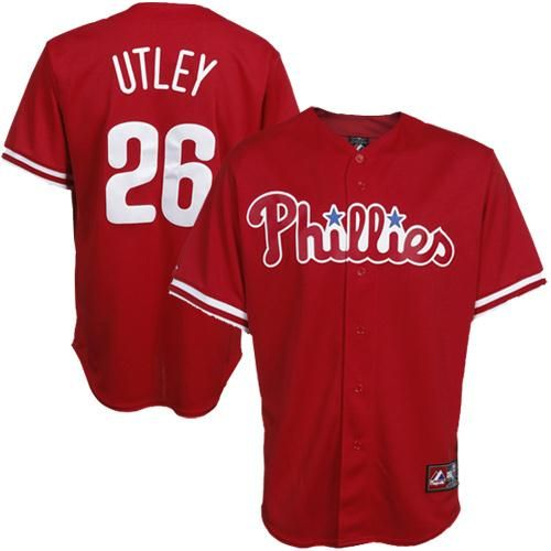 new styles 4c857 6f8ee Chase Utley Philadelphia Phillies #26 Majestic Replica ...