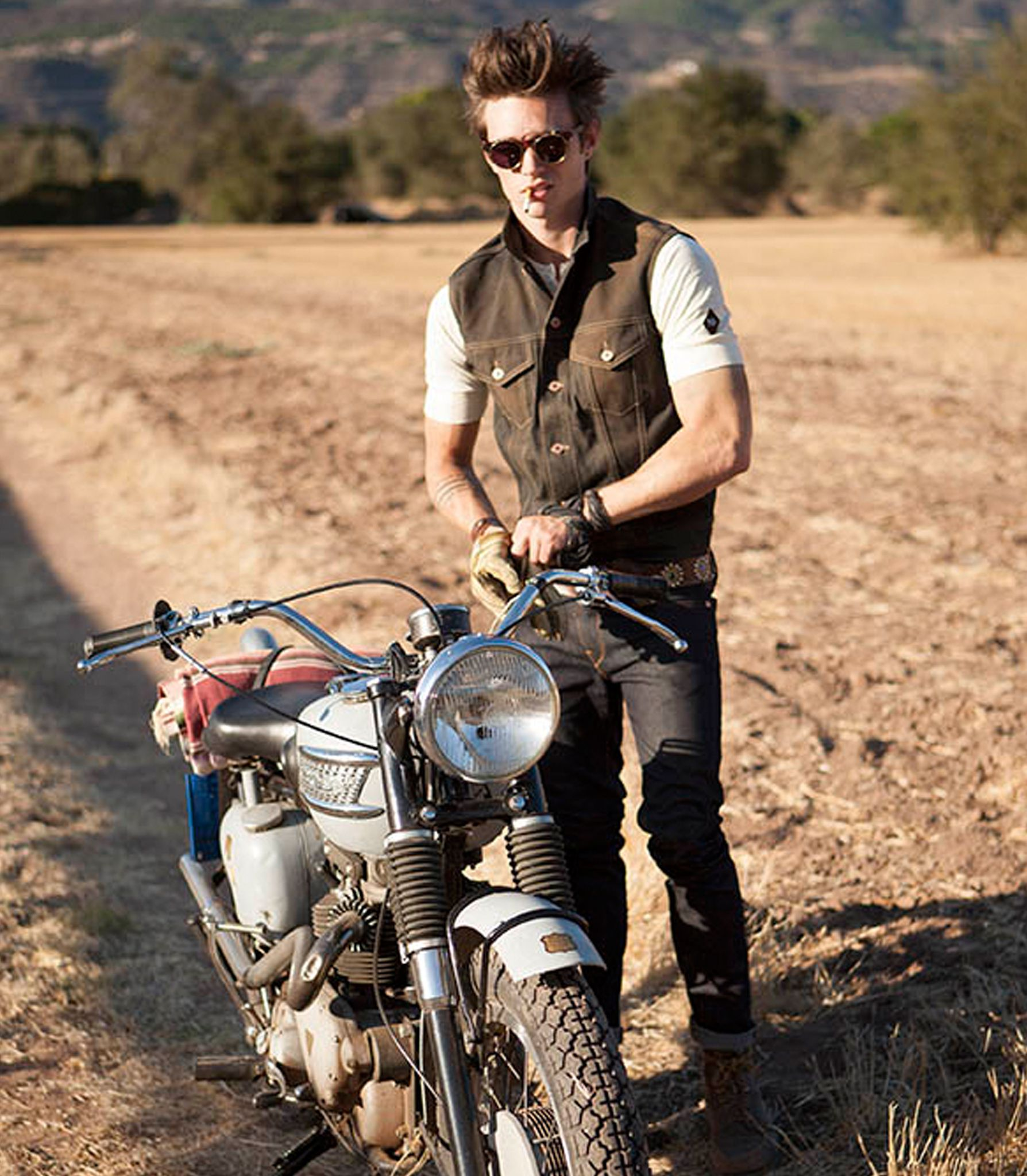 Ojai california denim workwear selvedge jeans wax canvas leather jackets motorcycle moto gear cone