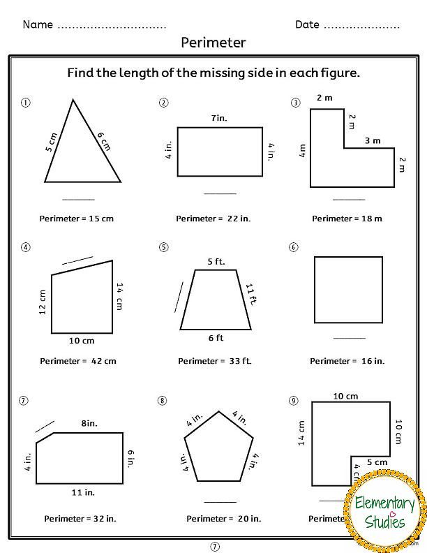 Areaandperimeterworksheetsg 612792 Pixels Math Pinterest