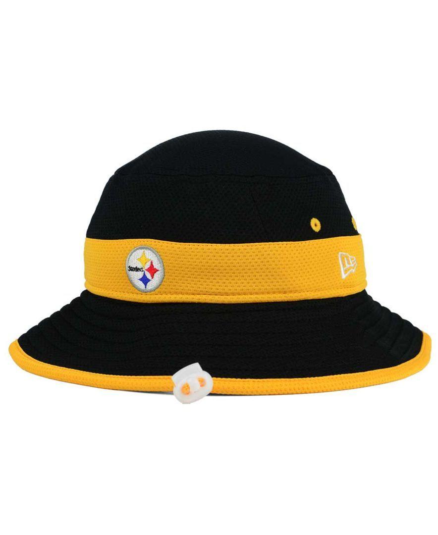 New Era Pittsburgh Steelers Training Camp Reverse Bucket Hat Sports Fan Shop By Lids Men Macy S Steelers Training Camp Pittsburgh Steelers Steelers