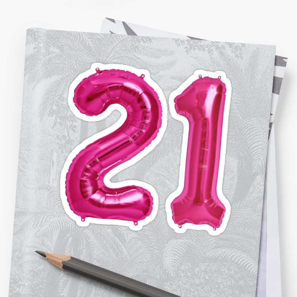 U0026 39 Hot Pink 21st Birthday Metallic Helium Balloons Numbers