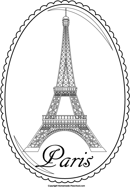 The Word Eiffel Tower Colouring Pages Page 2 Sketch Coloring