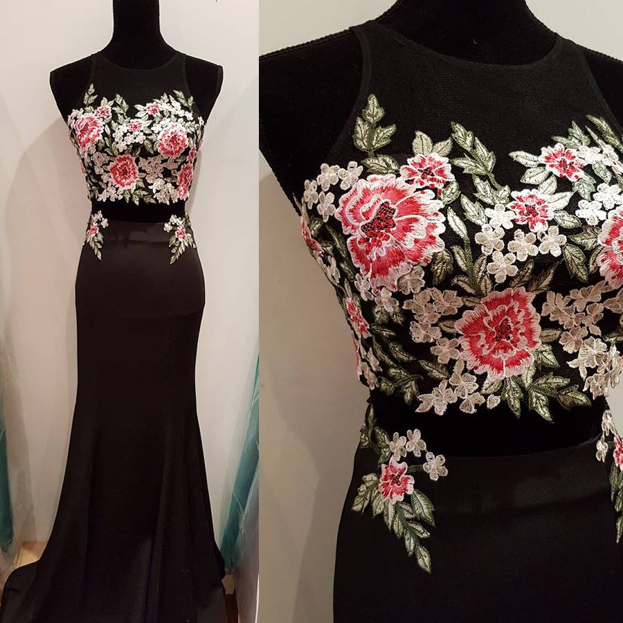 Floral peices prom dress vestidos pinterest prom floral and