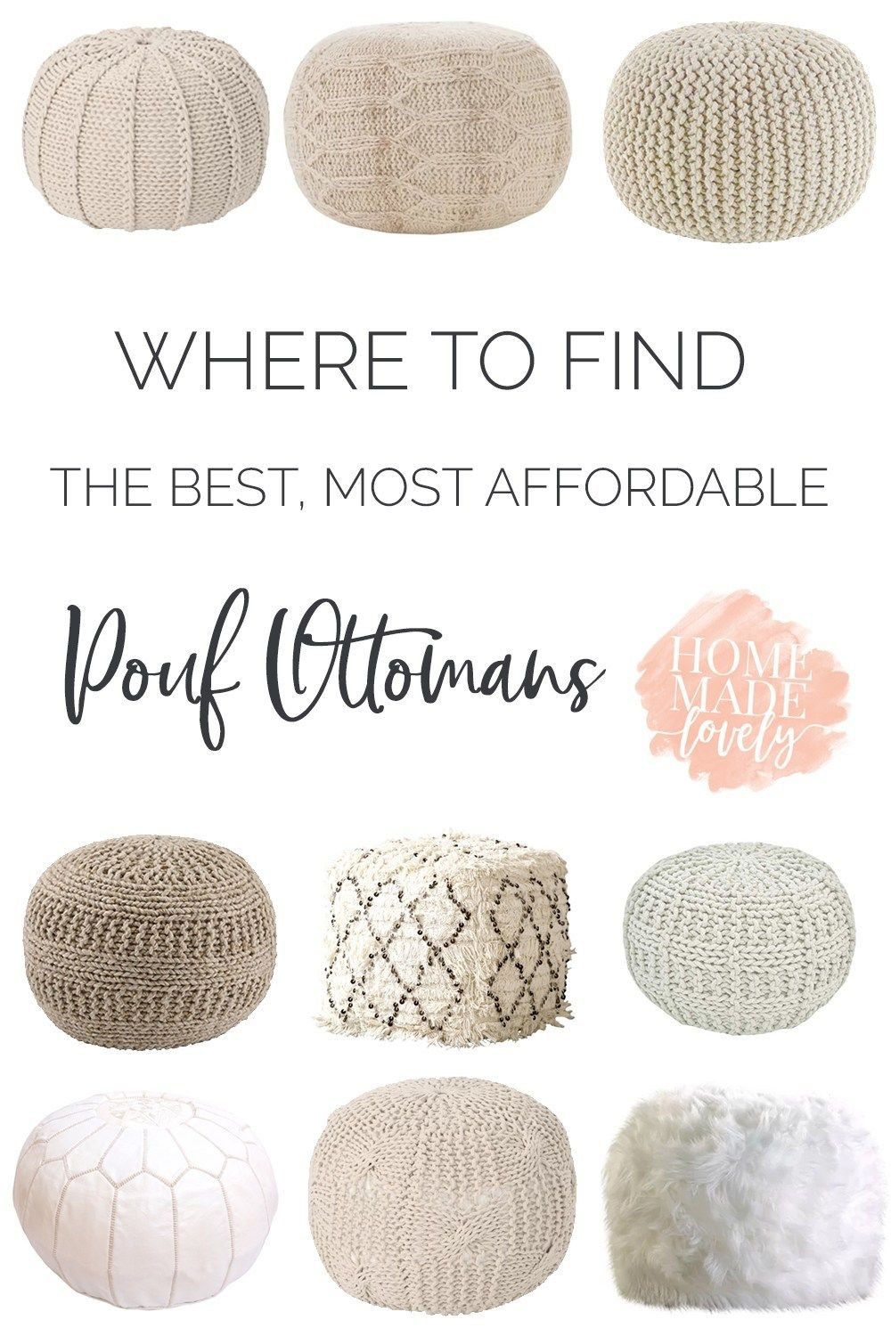 Where To Find The Best Most Affordable Pouf Ottomans Ottoman In