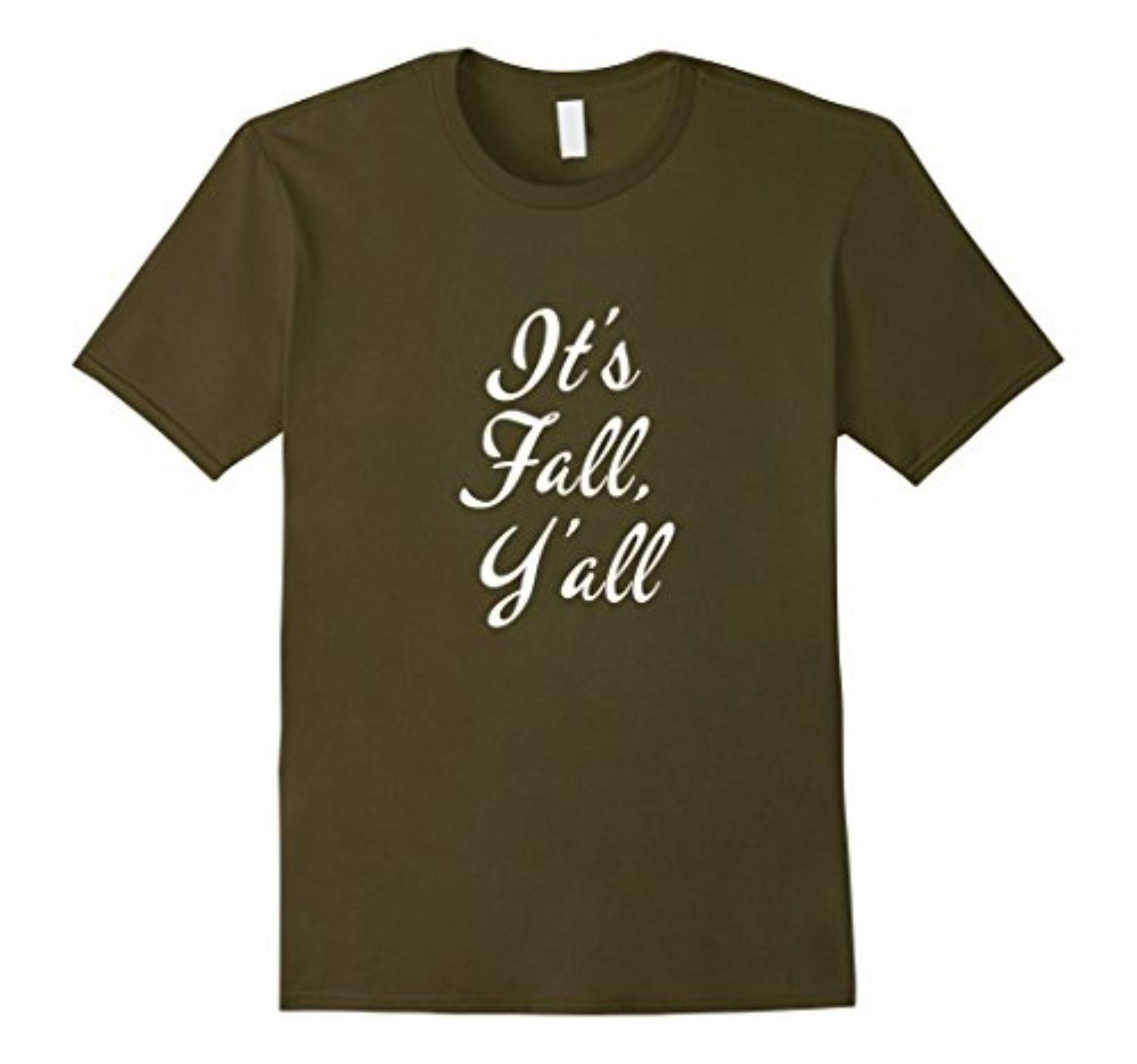 Men's It's Fall, Y'all t-shirt (5 color options!) Large Olive - Brought to you by Avarsha.com