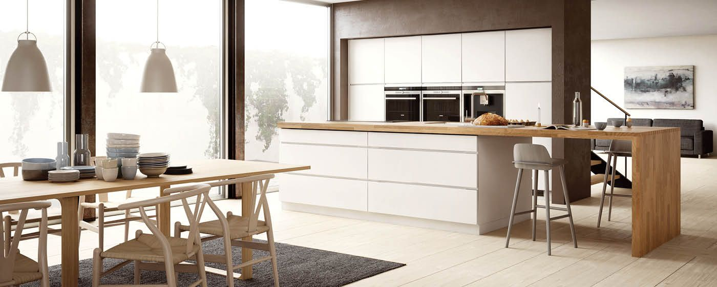 keuken grijs met hout |  iets meer plaats en zit je daar niet