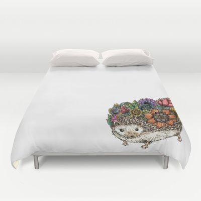 Flower Hedgehog Duvet Cover By Noah S Art 99 00