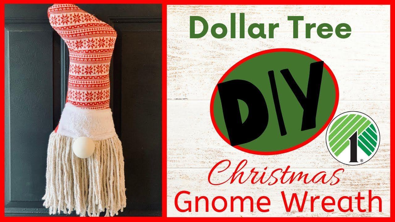 Dollar Tree DIY Christmas Gnome Wreath YouTube Dollar