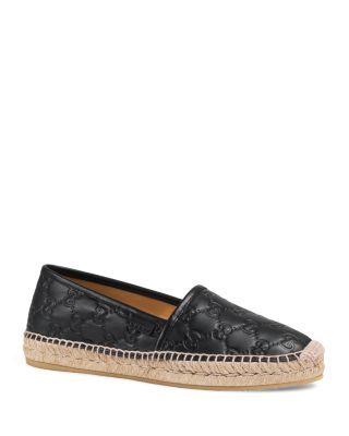 GUCCI Pilar Leather Espadrilles. #gucci #shoes #espadrilles