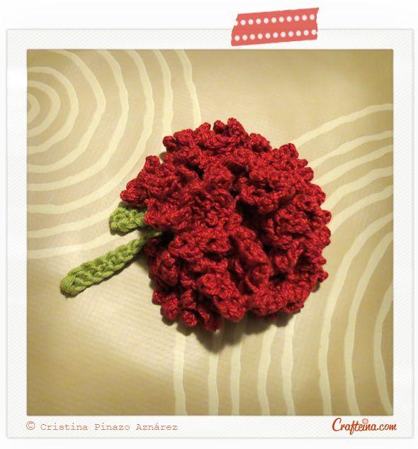 Crafteina: Clavel en crochet para San Isidro - foto tutorial en ...