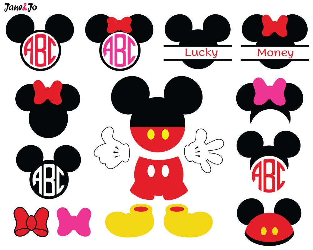 Download Sale! 17 Mickey Svg,Mickey Mouse Svg,Mickey Monogram ...