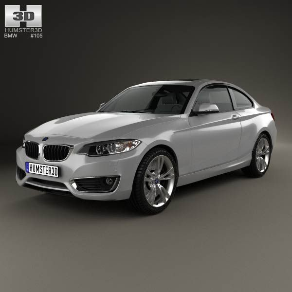 BMW 2 Series Coupe (F22) 2014 3d Model From Humster3d.com
