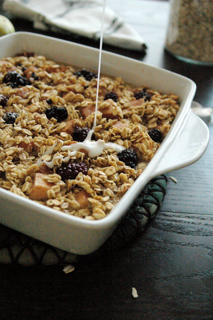 Pear and Blackberry Baked Oatmeal | The Cosmic Boar