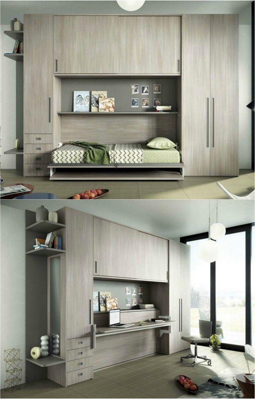 armoire lit escamotable qui se transforme en bureau enfant   Chambre ...