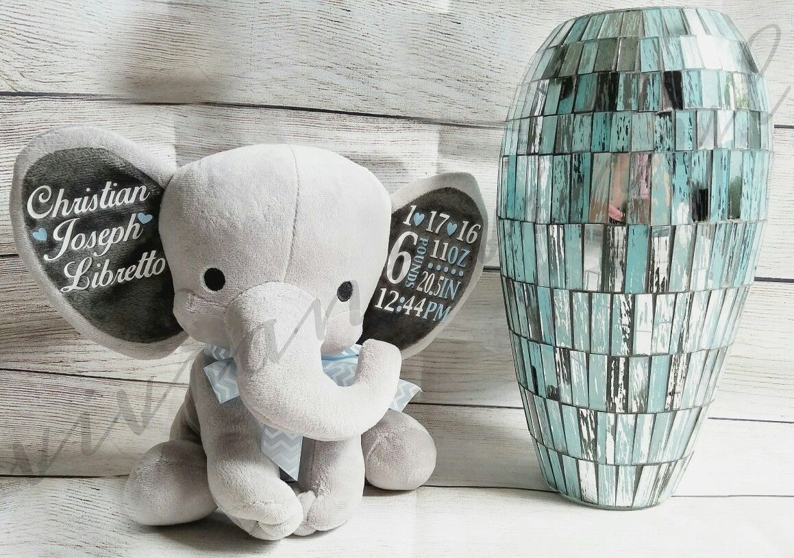 birth announcement elephant vivrant vinyl pinterest birth
