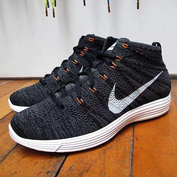 Nike Flyknit Chukka Grey Orange