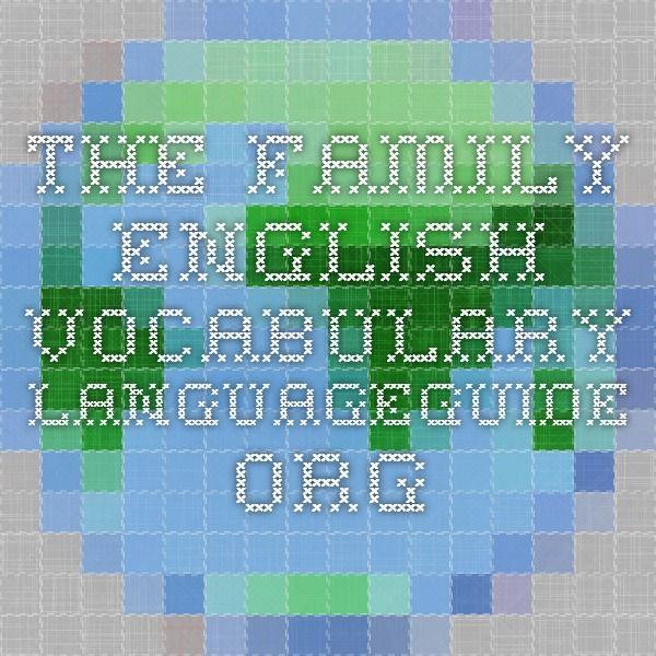 The Family - English Vocabulary - IWB activity.